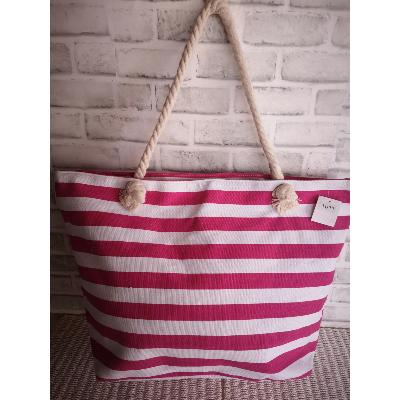 Grand Sac Cabas Bicolore Rose