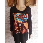 Sweat Long Femme Africaine Oversize