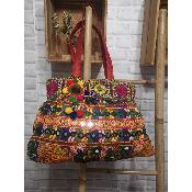 Sac Broderie Ethnique Rouge