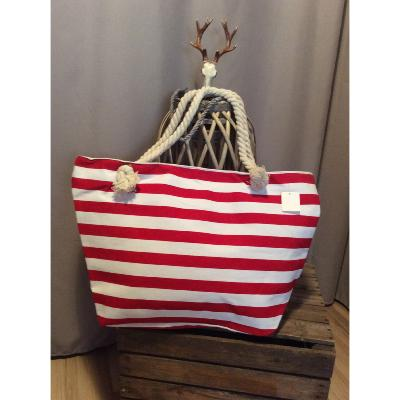 Grand Sac Cabas Bicolore Rouge