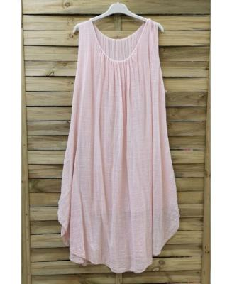 Robe Ample Rose Pale